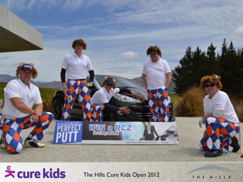 Peugeot and special guests play in the CureKids charity golf tournament at The Hills