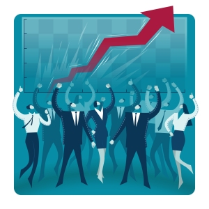 Business concept vector illustration: Teamwork is a winning combination