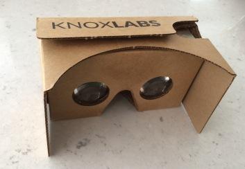 Catherine's Google Knoxlabs Cardboard pic